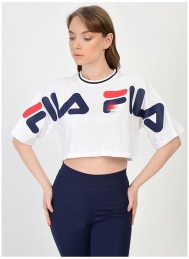 Fila Fila Barr Cropped Wide Kadın T-Shirt Beyaz